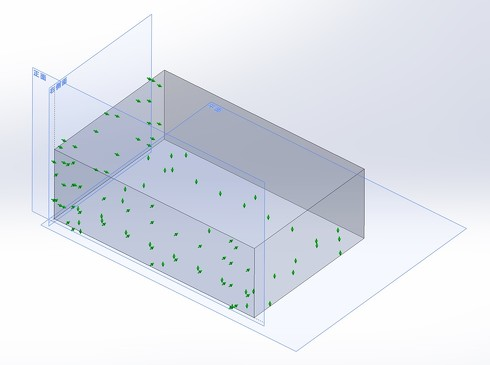 図8 3平面データム系により形体の姿勢を決める(矢印の面により拘束されている)