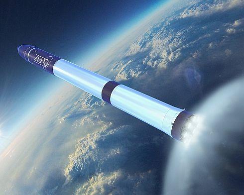 超小型衛星用ロケット「ZERO」のイメージCG