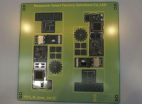 さまざまな微小部品を実装したプリント基板