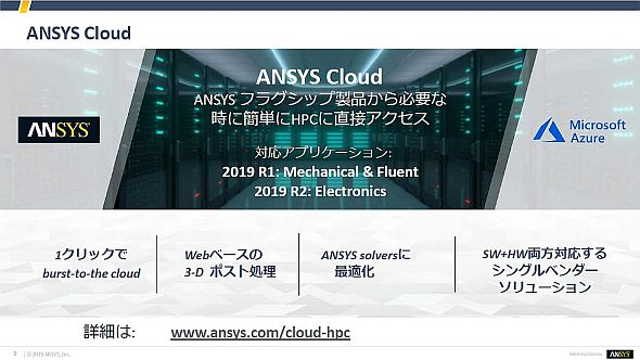 「ANSYS Cloud」の概要