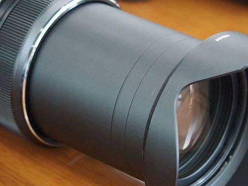 強度を出すため、レンズ鏡筒の構成や材料を工夫した