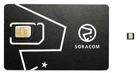 カード型SIM(左)とチップ型SIM(右)の例