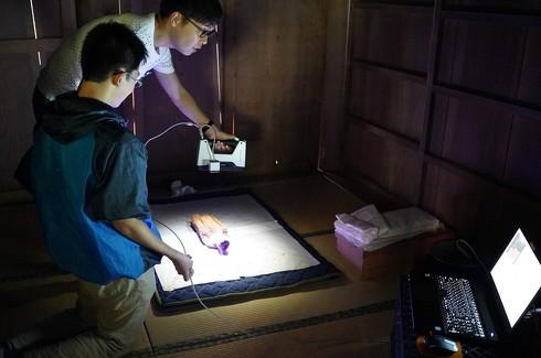 神像の修復とデータ収蔵