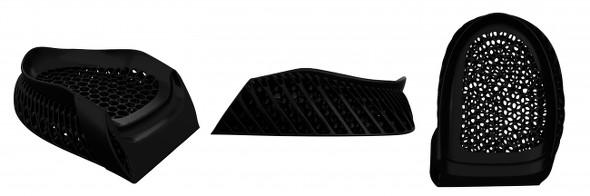 「TripleCell」向けに開発された新素材「Rebound Resin」によって造形された「990 Sport」のミッドソールの踵部