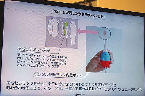 「Possi」に組み込まれている京セラの技術
