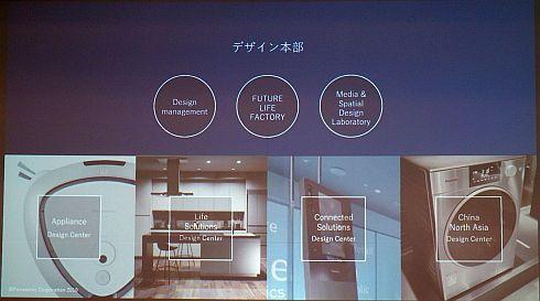 デザイン本部傘下の3つの組織と連携する4つのカンパニー