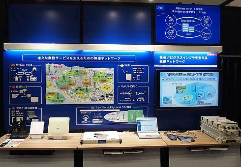「SOLUTION Japan 2019」における「プライベートLTEネットワークシステム」の展示ブース