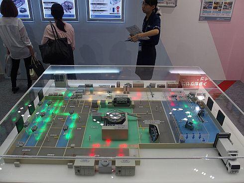 三菱重工冷熱の食品工場向け冷熱製品を紹介する模型