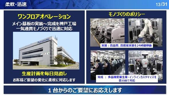 神戸工場の強みの1つである「柔軟」「迅速」なモノづくりについて