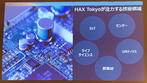 「HAX Tokyo」が注力する技術領域