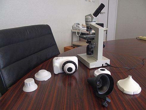 カシオ計算機の皮膚科医向けの業務用カメラ「DZ-D100」とオプション品の数々