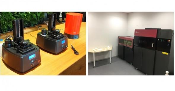 産業用3Dプリンタの体験型ショールーム(クリックで拡大) 出典:DMM.com