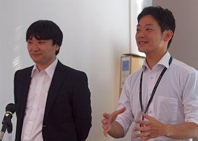 佐々木秀幸氏(左)と山口亮介氏