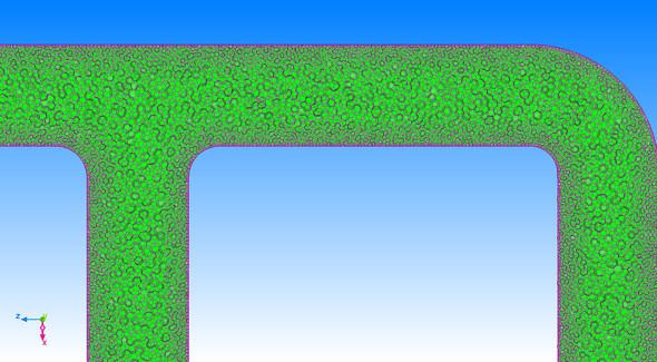 図1 ポリへドラルメッシュの例(要素を比較的細かく切ったケース)