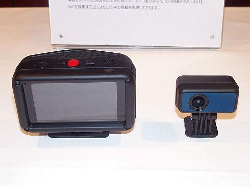開発した通信型ドライブレコーダーの実機