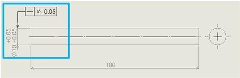 図7 軸線(中心軸)の真直度