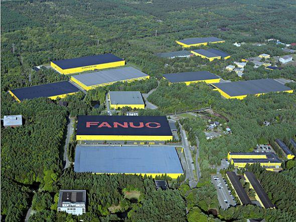 ファナックの本社工場の外観