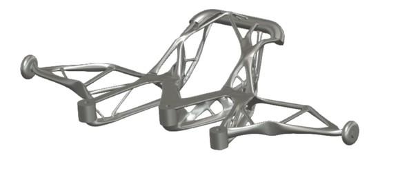 ゴールイメージ:ジェネレーティブデザインを適用した電動RCカーのバンパー部品
