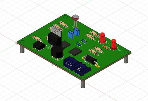 実装済み基板の3Dモデル