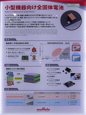 小型機器向け全固体電池の説明パネル