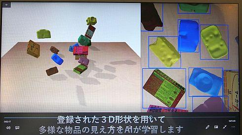 登録された3D形状の多様な見え方をシミュレーター上で学習する