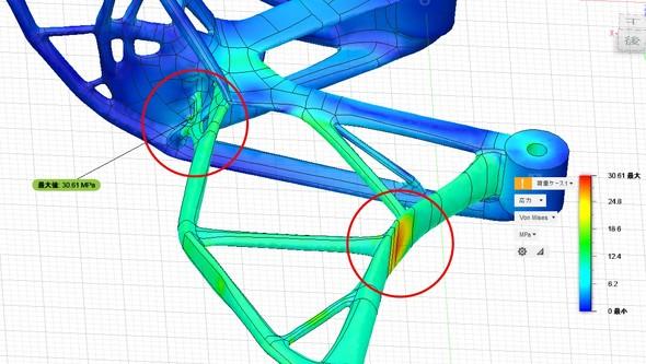 図5 応力が集中する箇所の確認