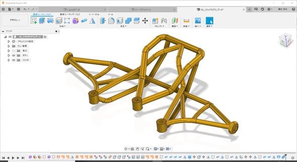図8 パイプ機能で作成したソリッドモデル