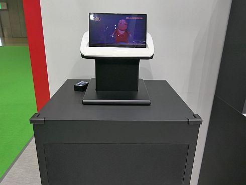 デンソーテンのディスプレイスピーカーの展示