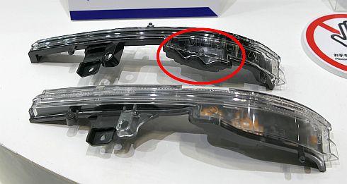 従来手法と新工法で製造した自動車用ランプ部品の比較
