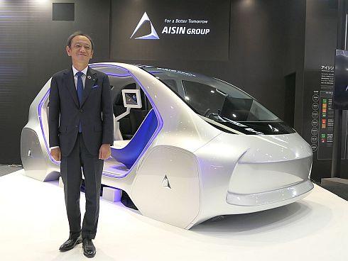 アイシン精機の伊勢清貴氏と体験型コンセプトカー「i-mobility TYPE-C」