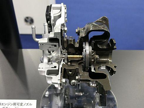 「GDエンジン」向けに新開発された可変ノズルターボチャージャー