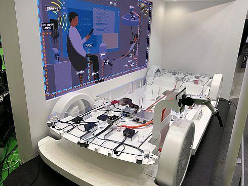 レベル4自動運転車をイメージしたEEDDSの車両モックアップの展示