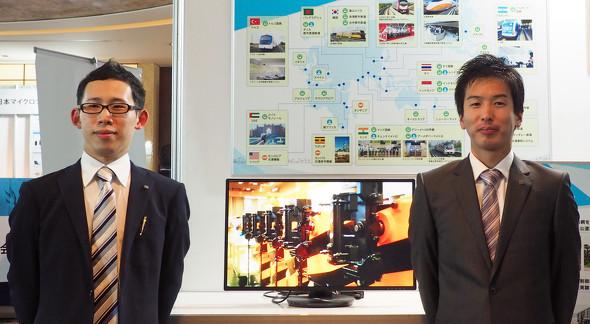 「SOLIDWORKS WORLD JAPAN 2019 東京」のユーザー事例講演に登壇した日本信号 久喜事業所 久喜統括技術部 インフラ機器技術部の喜多慧亮氏(右)と武井翔氏(左)