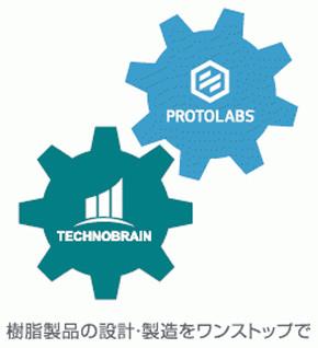プロトラブズとテクノブレインが提供する「ワンストップ設計・製造支援サービス」