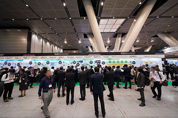 「Hitachi Social Innovation Forum 2019 TOKYO」展示会場のマニュファクチャリングコーナー