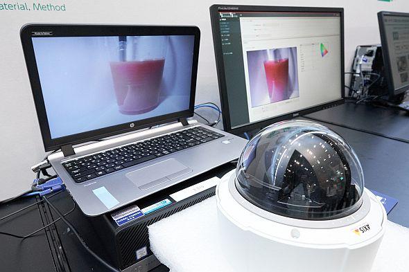 「化学品反応プロセス画像解析・評価システム」のデモンストレーション