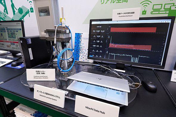 「Hitachi Data Hub」の展示では、日本精機のオンプレミス版遠隔監視システム「SMASH」との連携デモを披露した