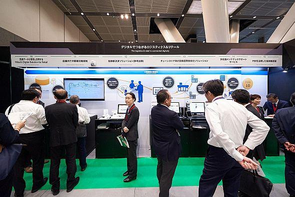 「Hitachi Social Innovation Forum 2019 TOKYO」展示会場のリテールコーナー