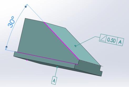 図7 傾斜度測定対象部品