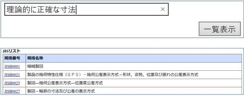 図10 検索結果(出典:日本産業標準調査会)