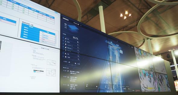 大型ディスプレイを配置し、コントロールセンターを模した展示