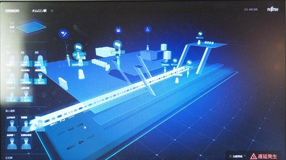 「駅業務支援システム」における「係員」の画面イメージ