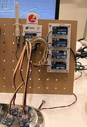 シマフジ電機のIoT-EngineとSigfoxの組み合わせデモ