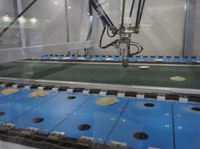 ロボットが素早くホタテ貝の貝殻を選別