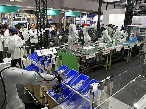 三菱電機のスマート工場デモ
