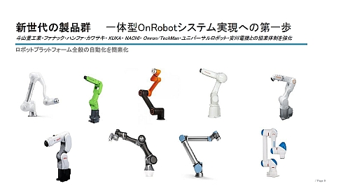 OnRobotが対応を進める産業用ロボットメーカー