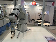 三菱電機のロボットを使ったデモ