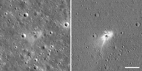 NASAが公開したBeresheetの落下地点