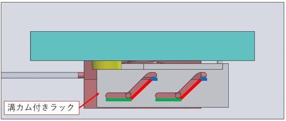 1つのモーターで2つの部品を独立させて動かす