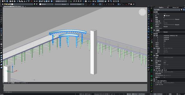"""製造と建築の垣根を越えた""""ワンプラットフォーム""""によるメリットを提供する「BricsCAD」(デモンストレーションの様子)"""
